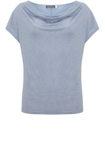 Mint Velvet Cloud Shimmer Cowl Neck Tee
