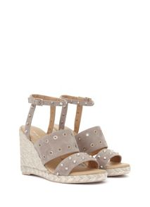 Mint Velvet Grey Steph Stud & Eyelet Wedge