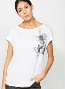 Mint Velvet Ivory Butterfly Embroidered Tee