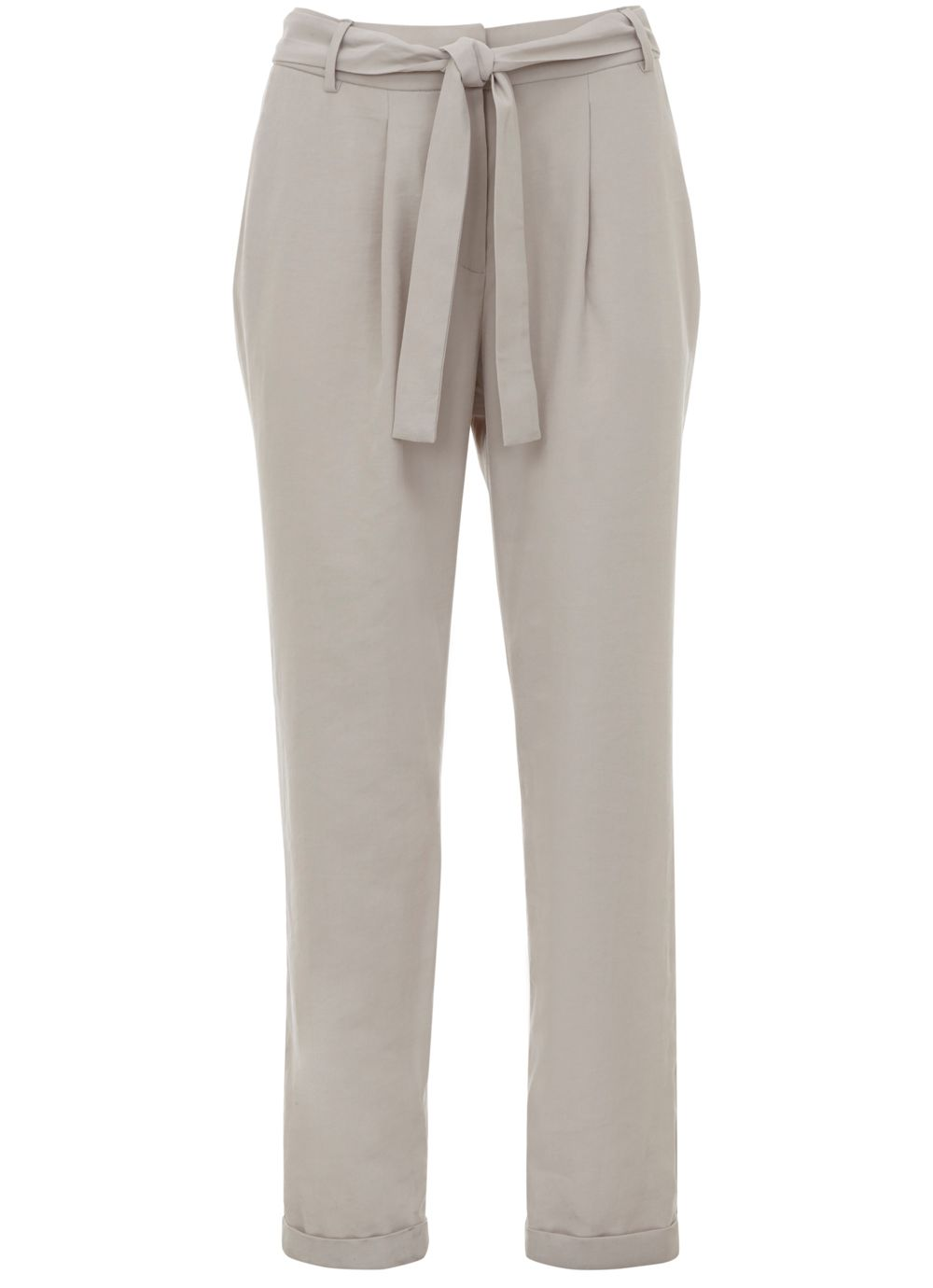 Mint Velvet Oyster Belted Tapered Trouser, Neutral