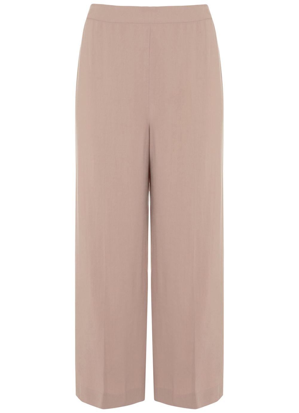 Mint Velvet Blossom Wide Leg Crop Trouser, Pink
