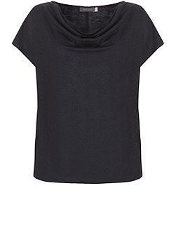 Ink Shimmer Cowl Neck Tee