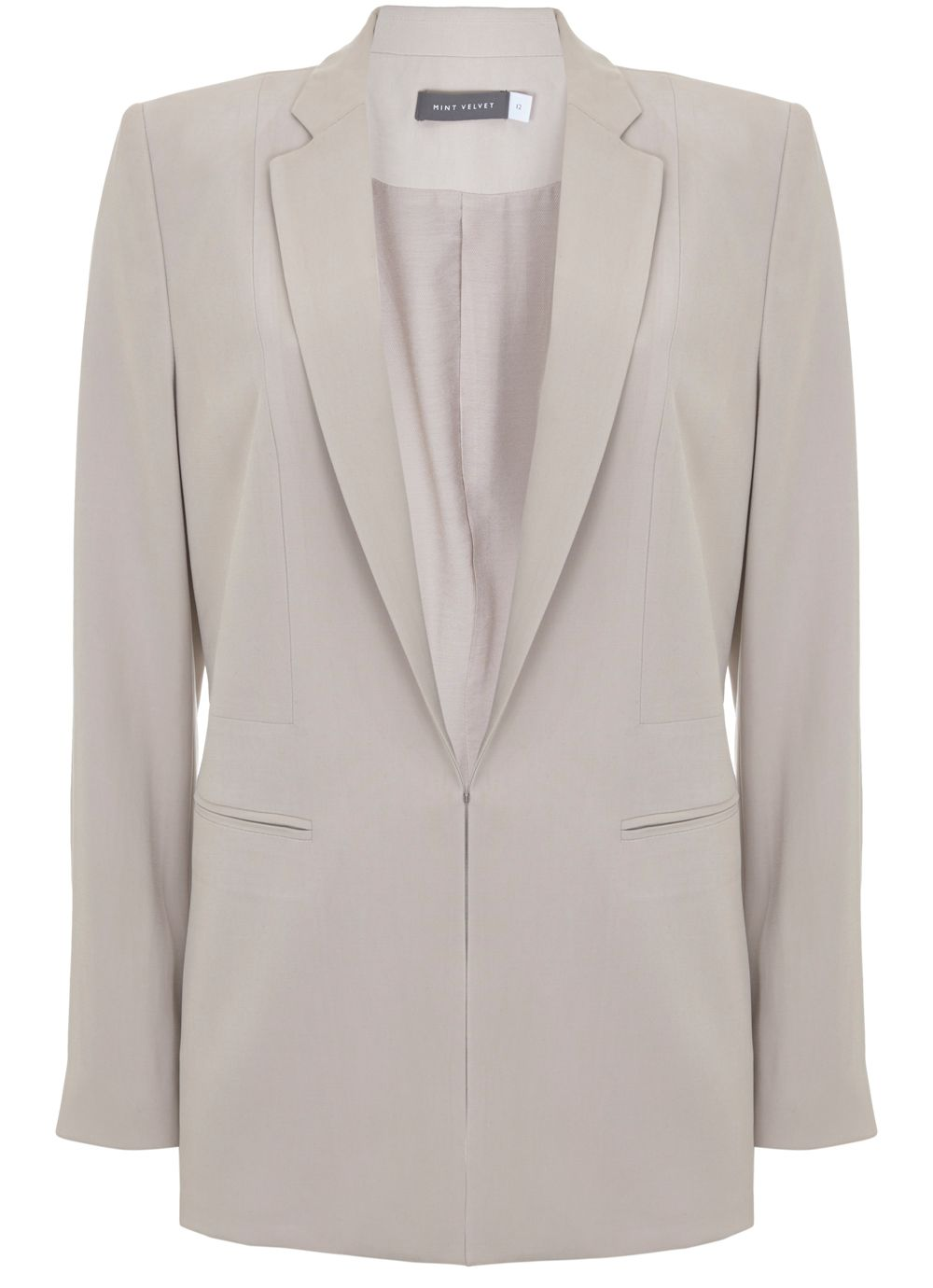 Mint Velvet Oyster Tailored Blazer, Light Brown