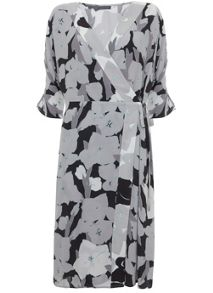 Mint Velvet Cassie Print Wrap Dress