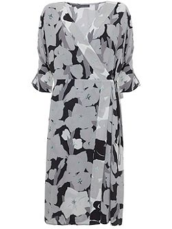 Cassie Print Wrap Dress