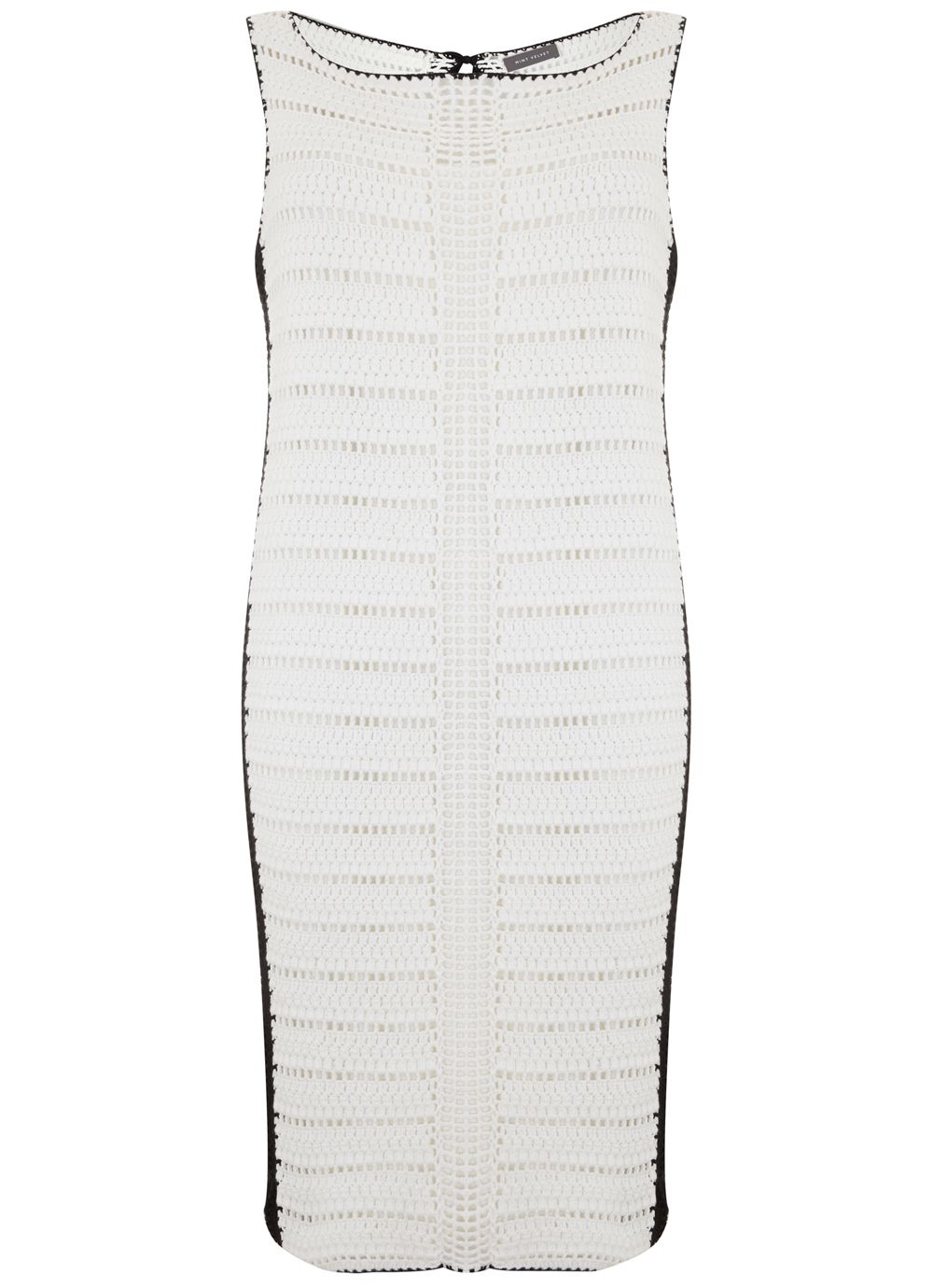 Mint Velvet Ivory Crochet Column Dress, White