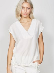 Mint Velvet Cream Blanket Stitch Tee