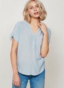 Mint Velvet Tie Sleeve Stripe Top