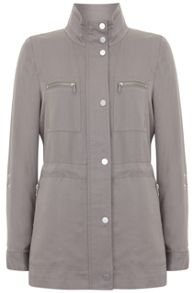 Mint Velvet Latte Safari Jacket
