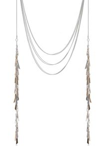 Mint Velvet Side Drop Multi Tassel Necklace
