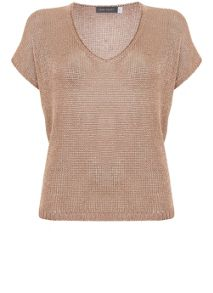 Mint Velvet Rose Gold Tape Yarn Tee