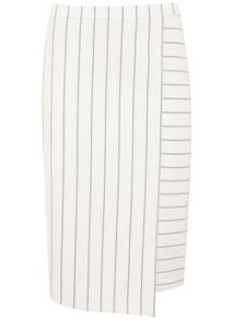 Mint Velvet White Stripe Pencil Skirt