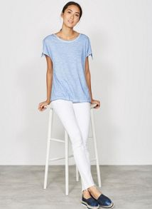 Mint Velvet Maryland White Let Down Hem Jean