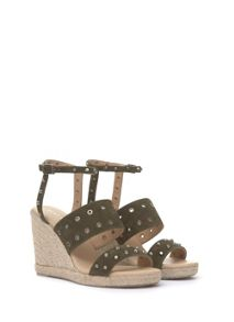 Mint Velvet Khaki Steph Espadrille Wedge