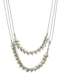 Mint Velvet Silver Flower Chain Layer Necklace