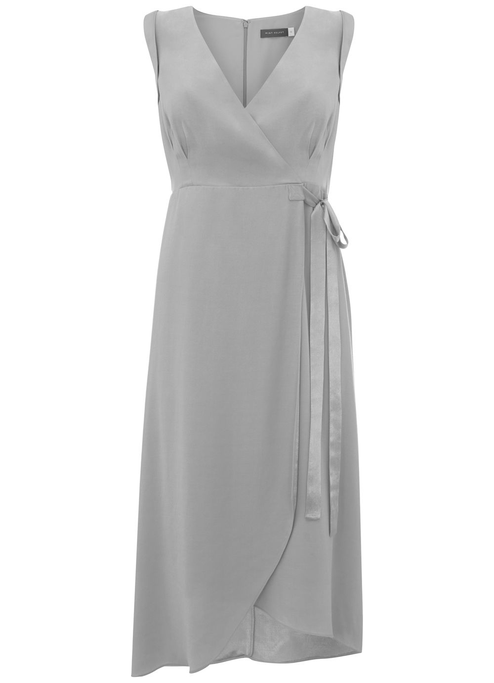 Mint Velvet Grey Tie Side Dress, Grey