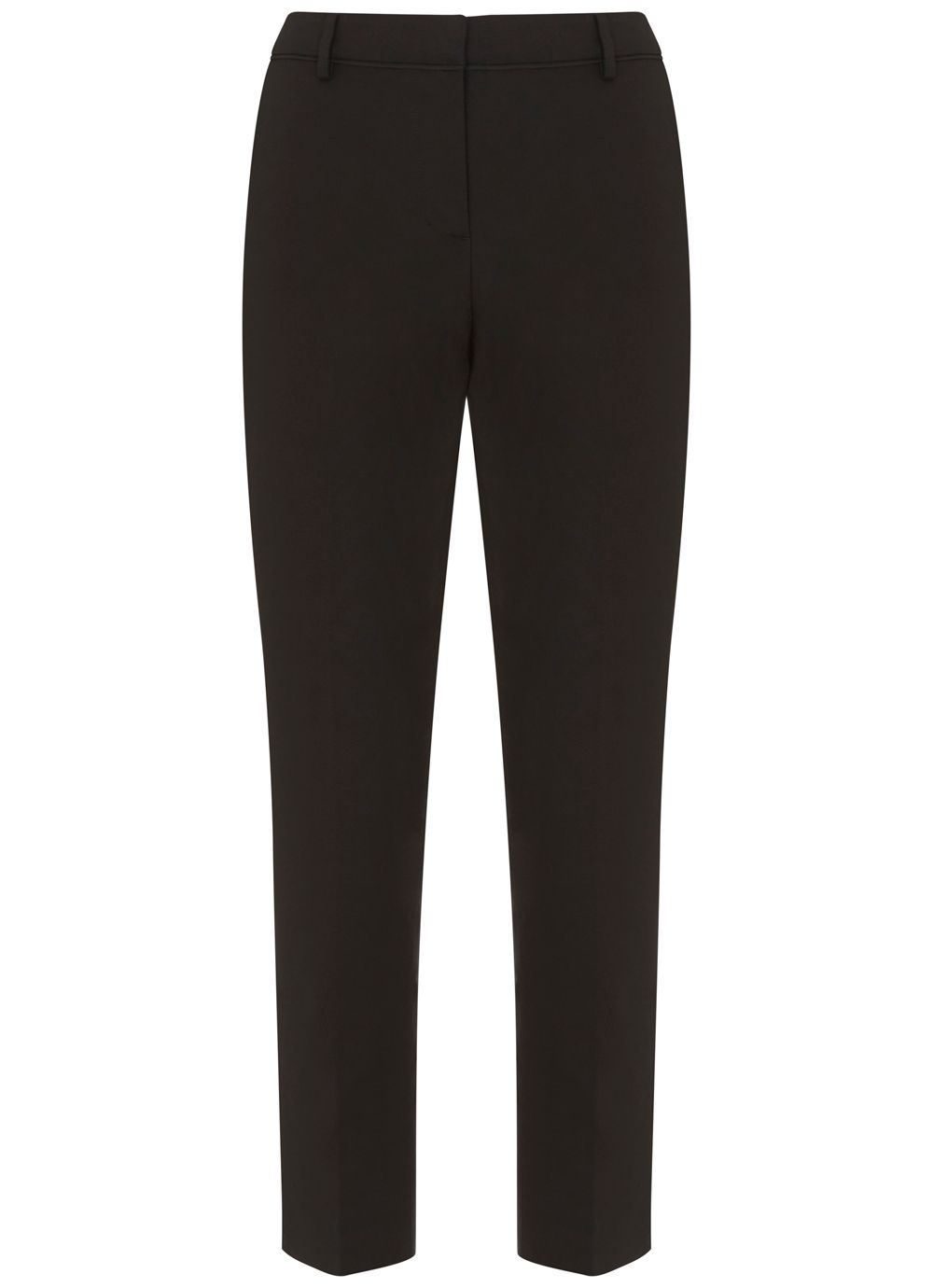 Mint Velvet Black Stretch Cropped Trouser, Black