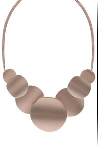 Mint Velvet Rose Gold Toned Brushed Statement Necklace