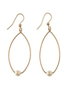 Mint Velvet Gold Pearl Drop Earring