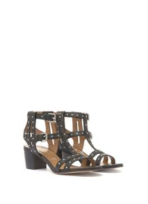 Mint Velvet Wendy Black Stud Detail Sandal