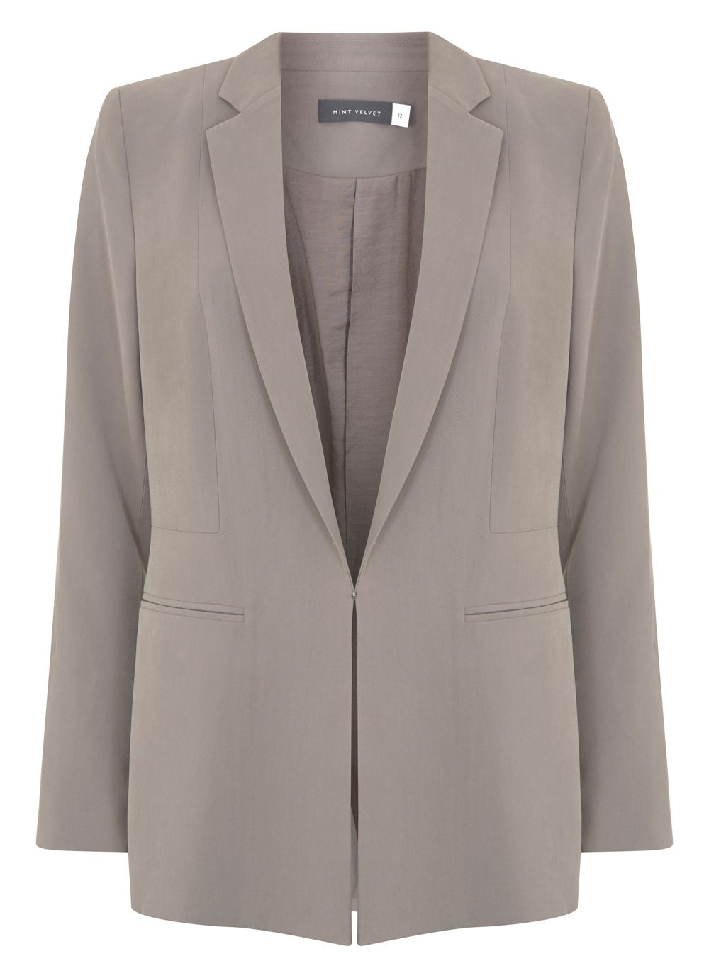 Mint Velvet Latte Tailored Blazer, Neutral