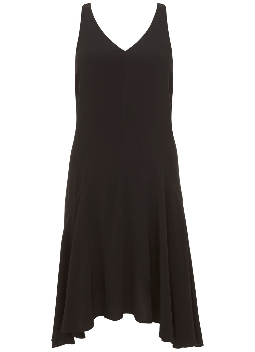 Mint Velvet Black Bow Back Trapeze Dress, Black
