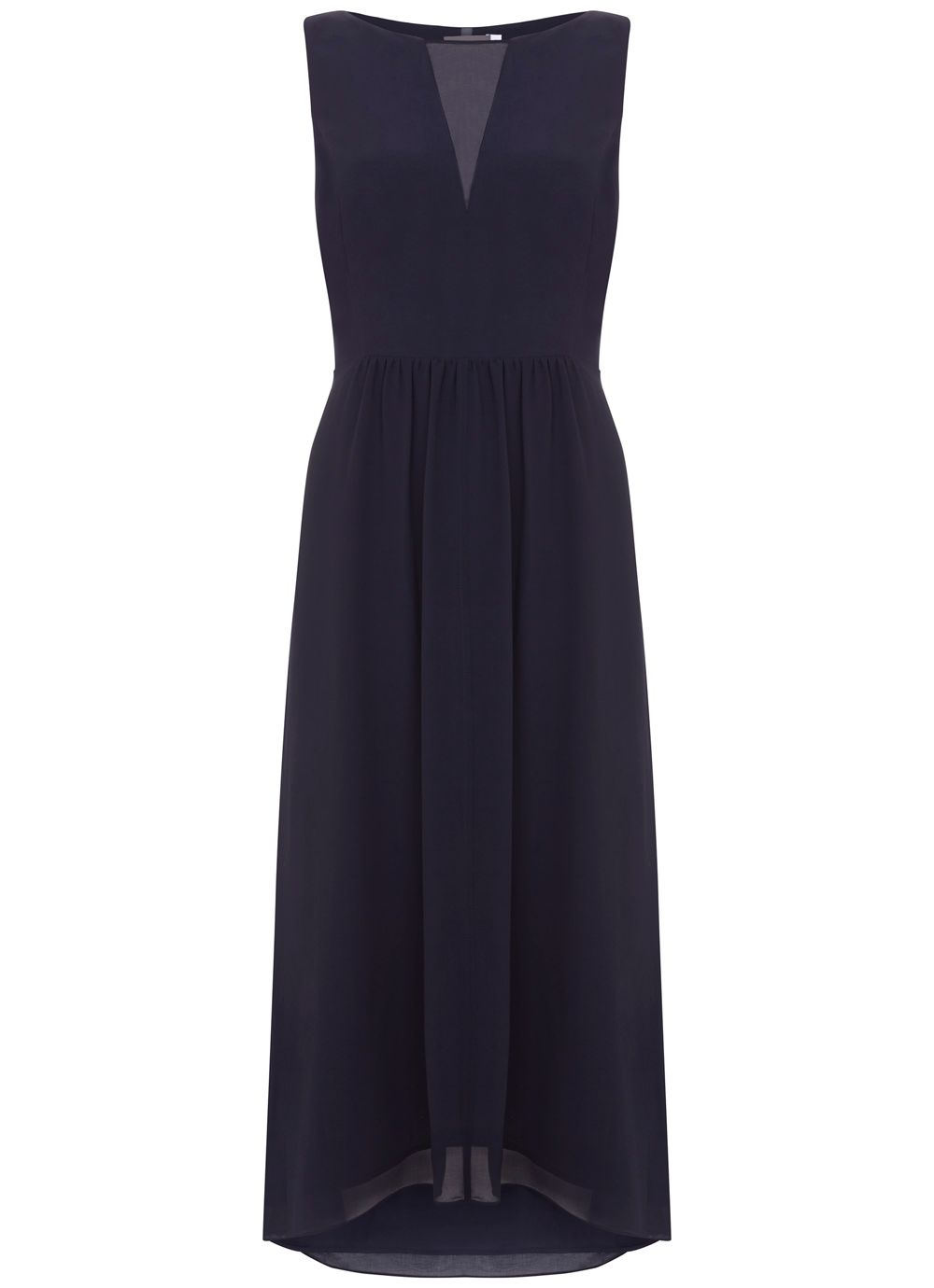 Mint Velvet Lace Back Detail Dress, Dark Blue