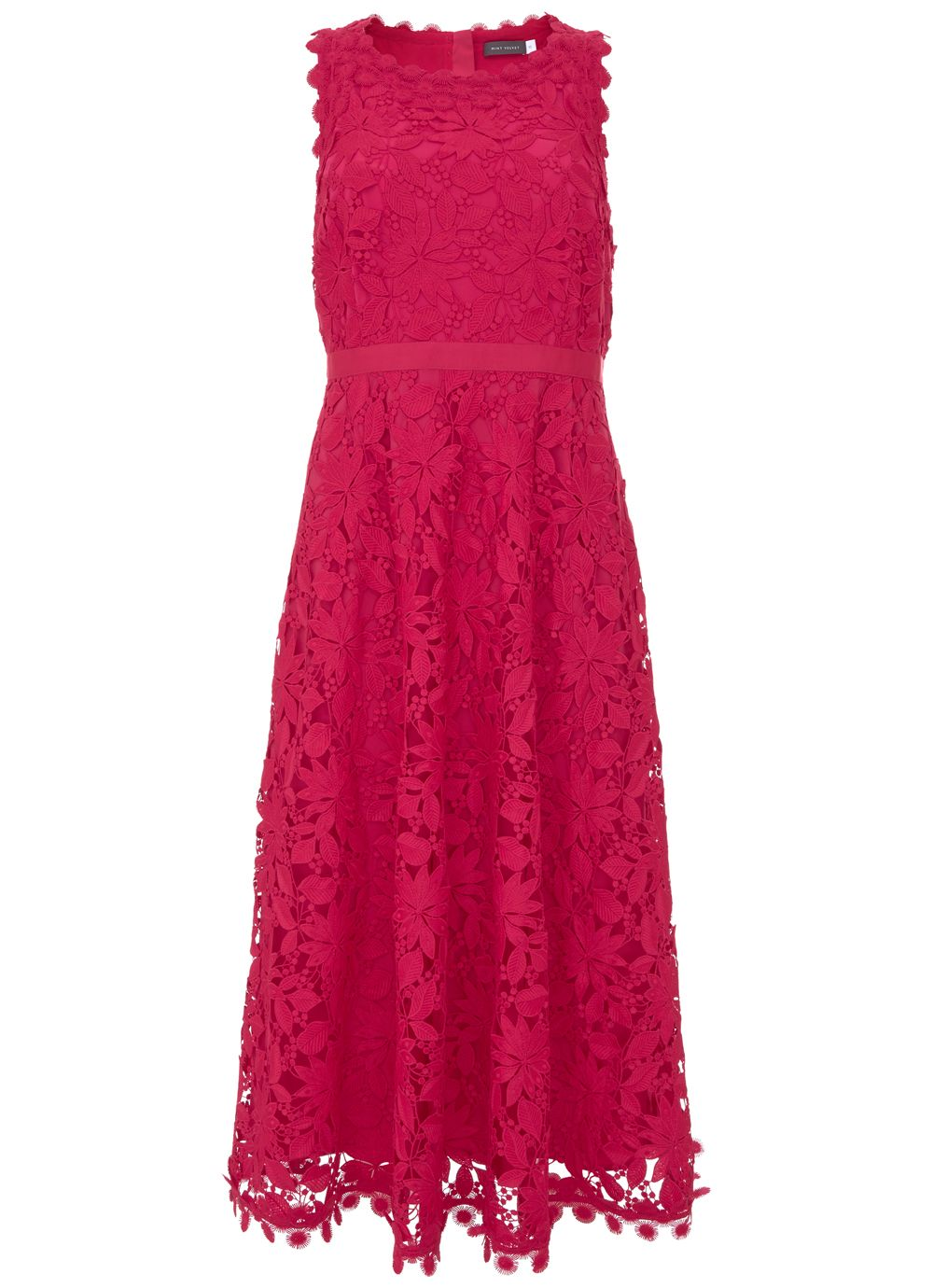 Mint Velvet Lace Dress, Pink