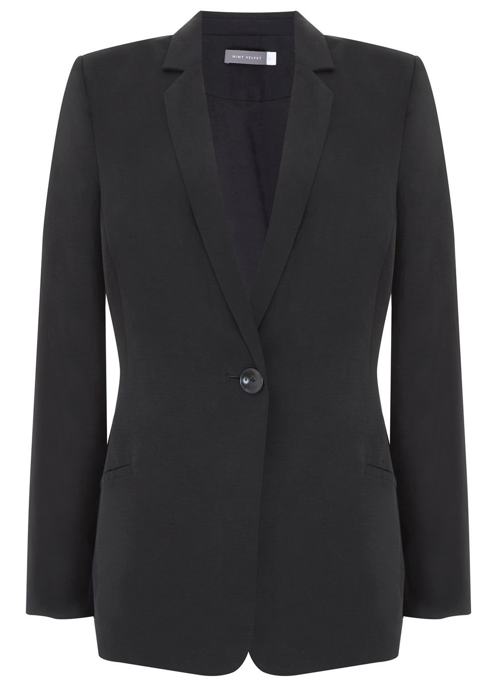 Mint Velvet Black Boyfriend Blazer, Black
