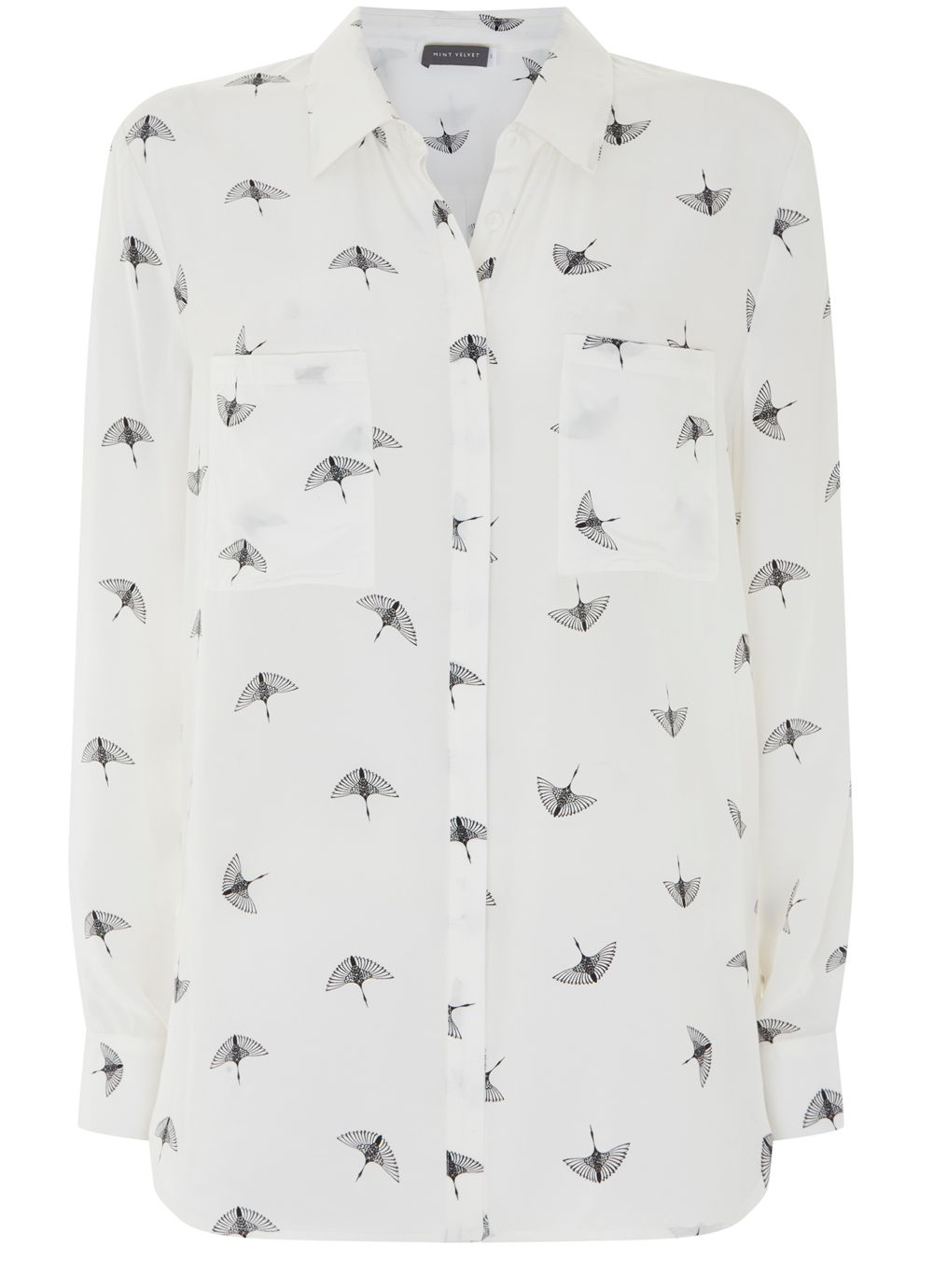 Mint Velvet Imogen Ivory Printed Shirt, Multi-Coloured