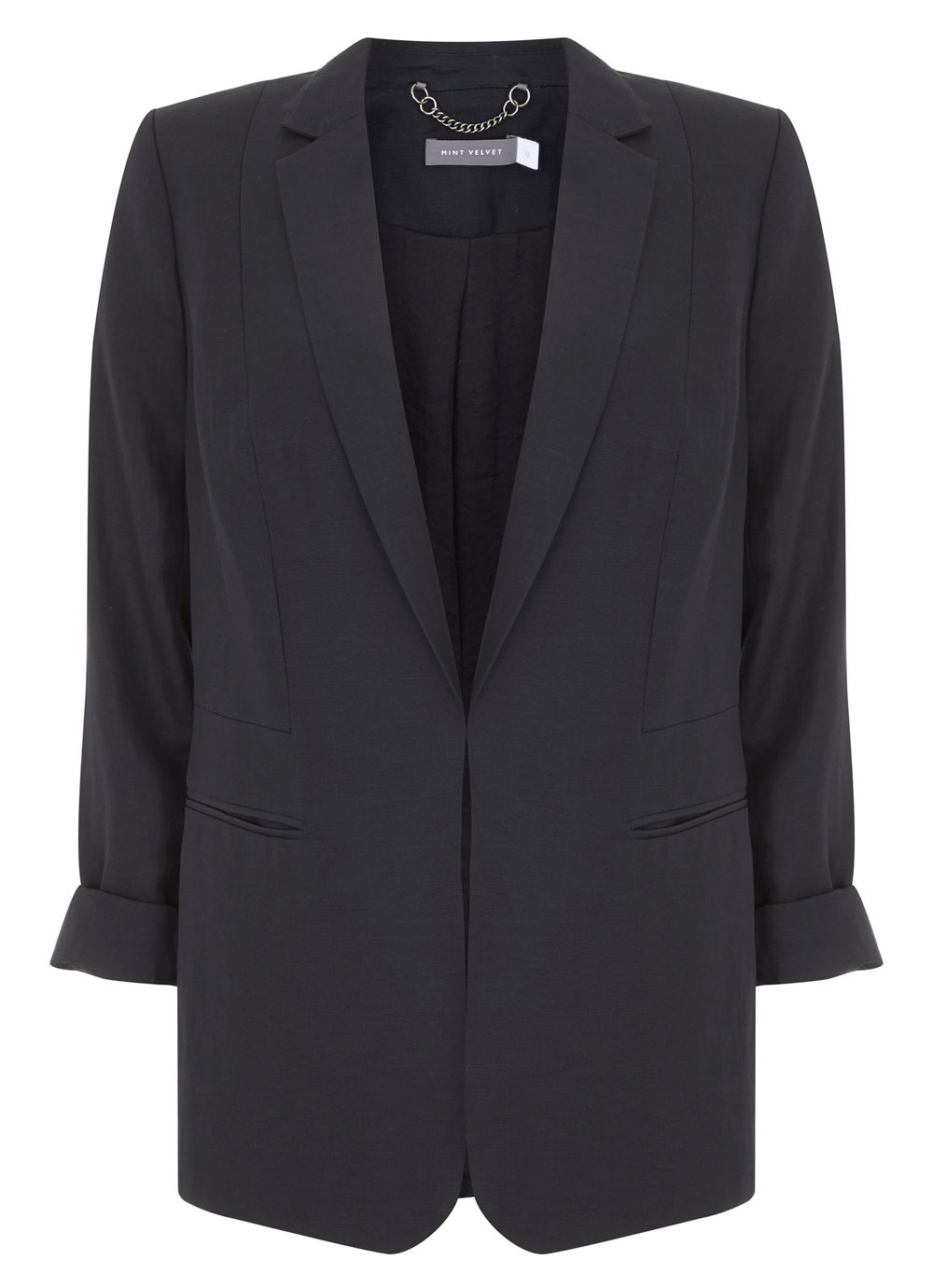 Mint Velvet Easy Boyfriend Blazer, Black