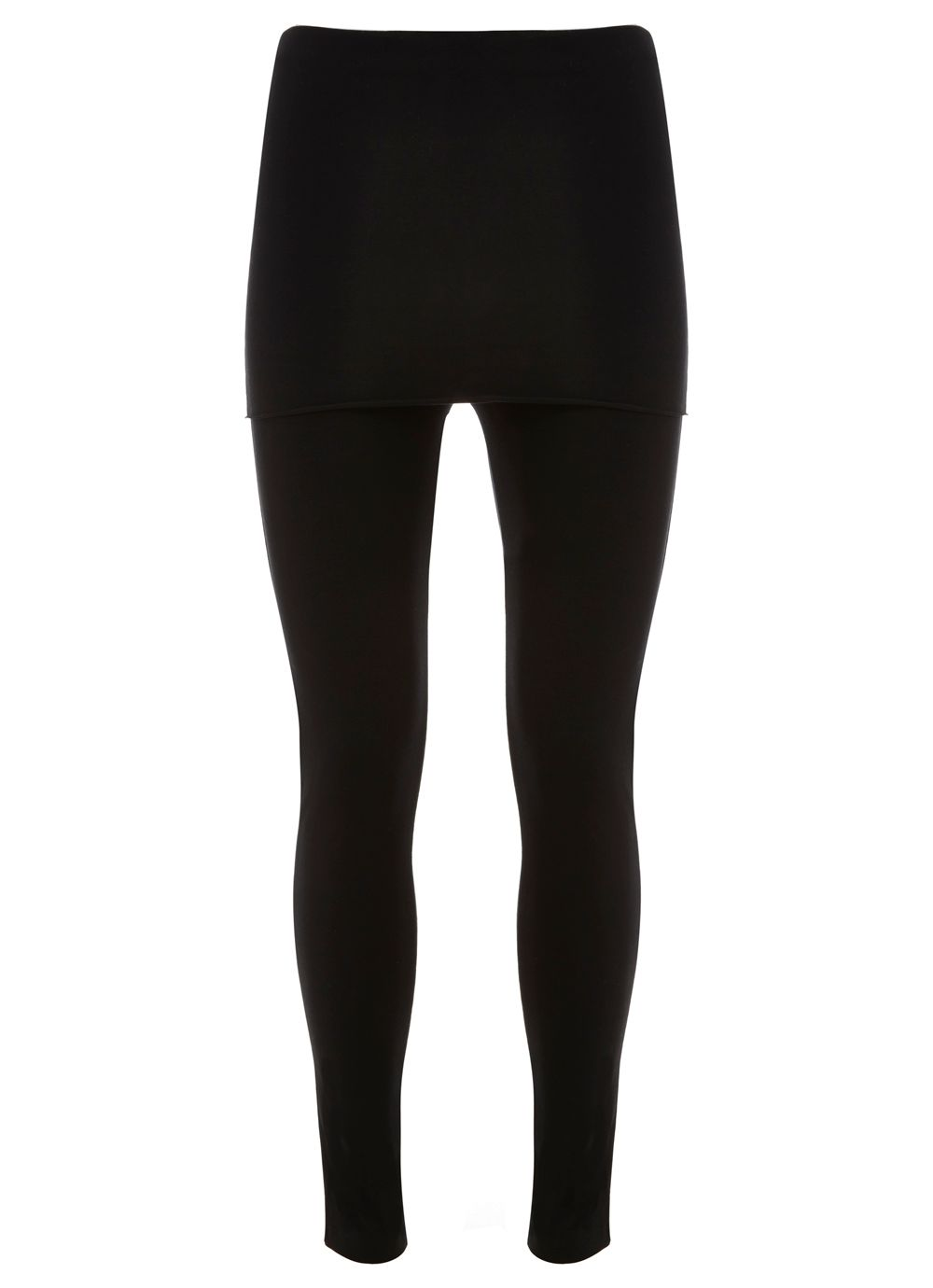 Mint Velvet Black Skirted Legging, Black