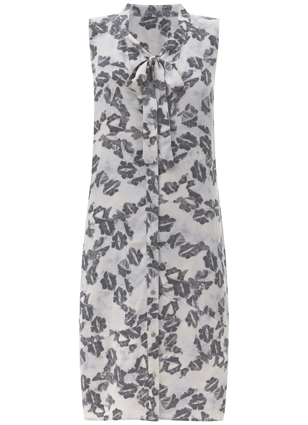 Mint Velvet Cecilia Print Cocoon Dress, Multi-Coloured