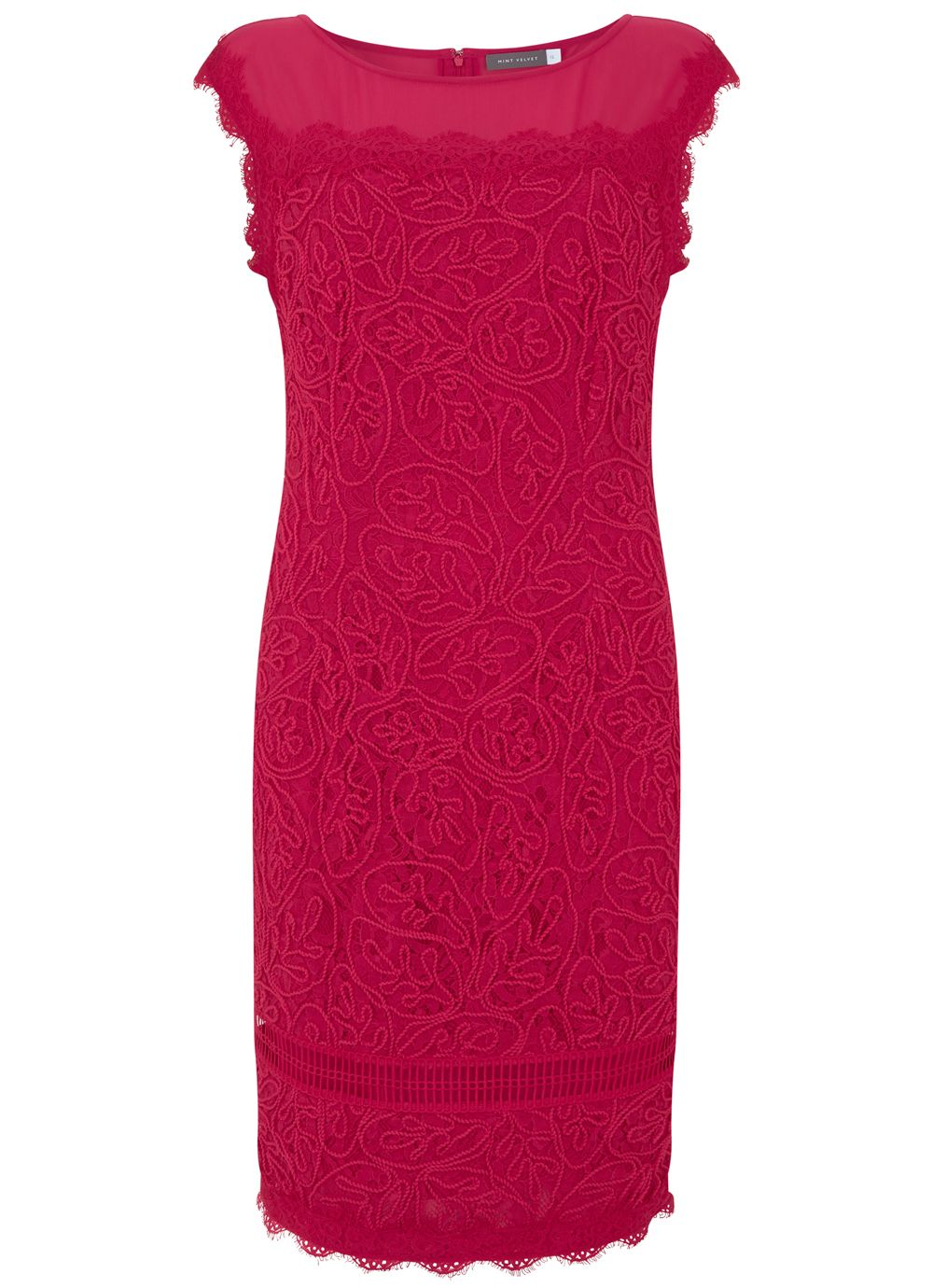 Mint Velvet Pink Corded Lace Shift Dress, Pink