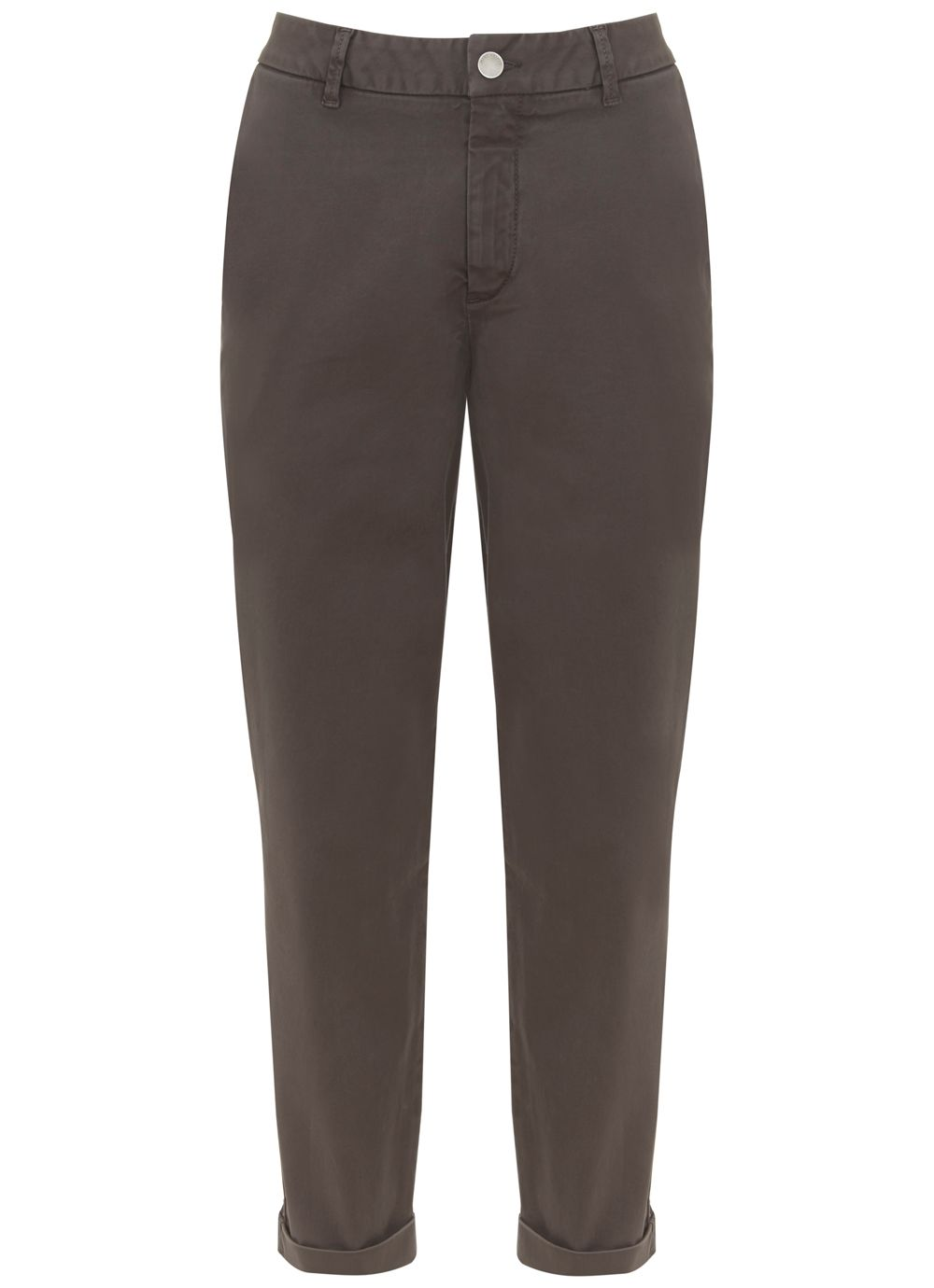 Mint Velvet Mocha Casual Turn Up Trouser, Light Brown