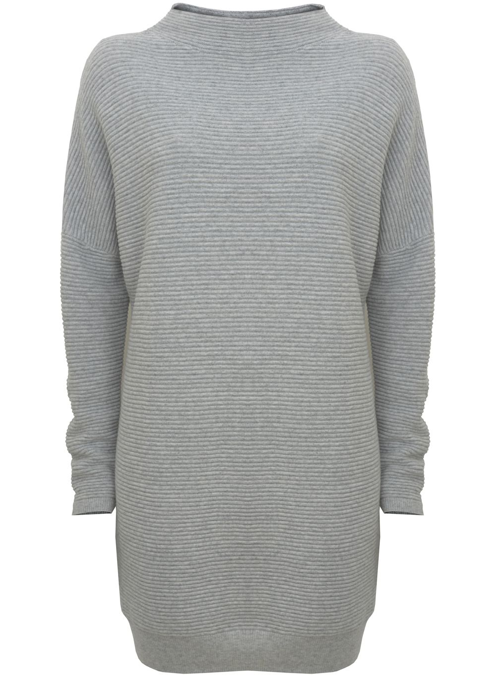 Mint Velvet Grey Ottoman Stitch Tunic, Light Grey