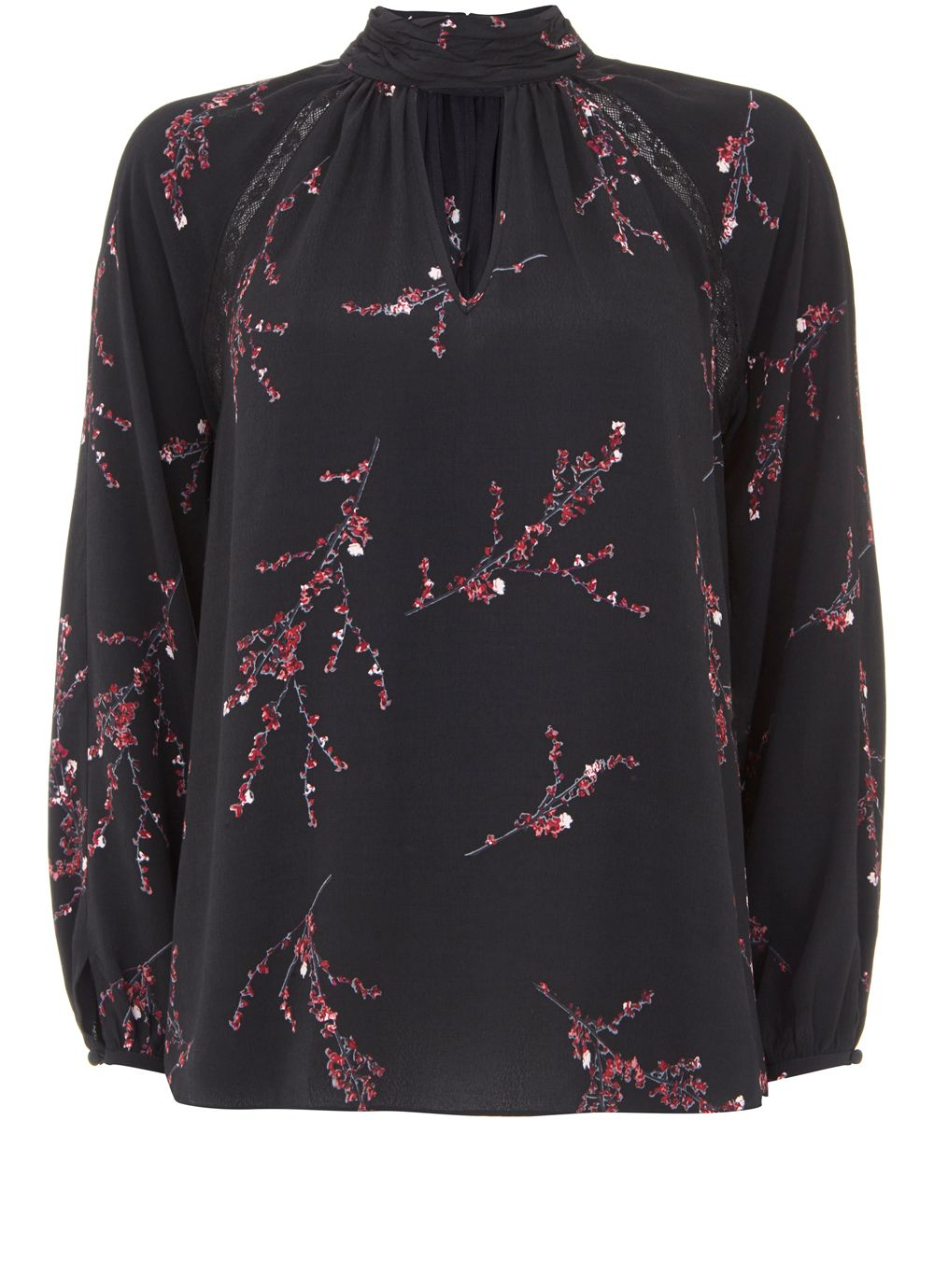 Mint Velvet Blossom Print Blouse, Multi-Coloured
