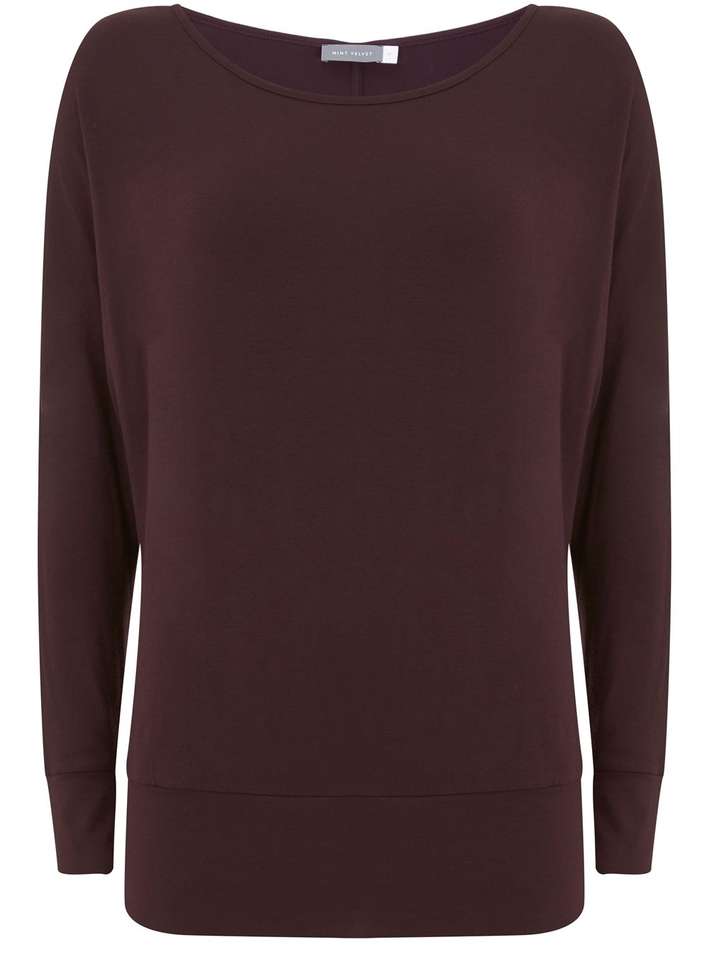 Mint Velvet Bordeaux Modal Batwing, Dark Red