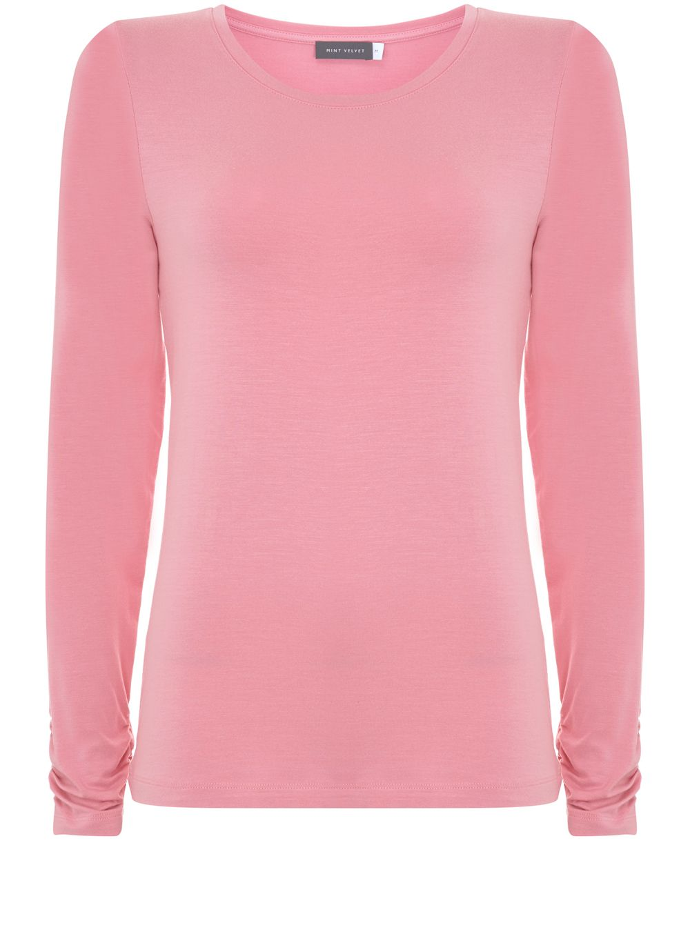 Mint Velvet Raspberry Scoop Neck Modal Tee, Pink