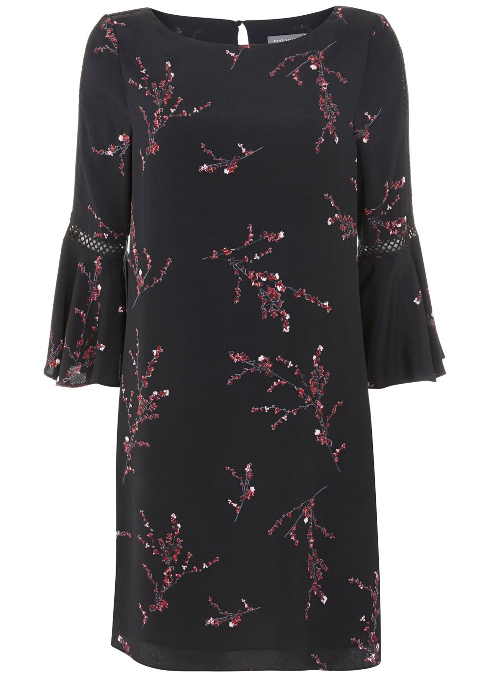 Mint Velvet Blossom Print Swing Dress, Multi-Coloured