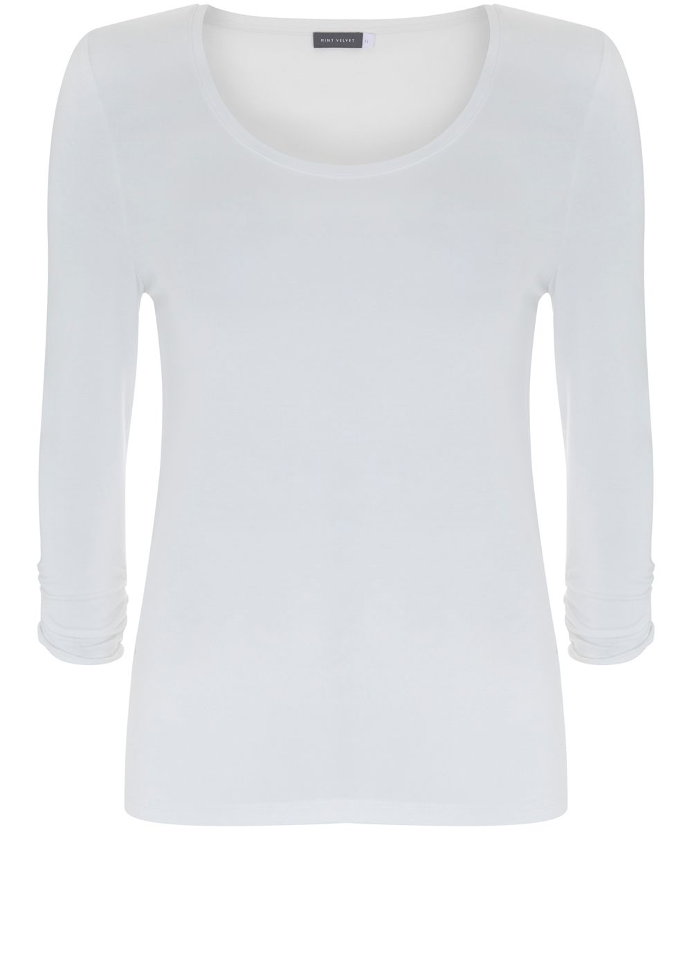 Mint Velvet Ivory Scoop Neck Modal Tee, White