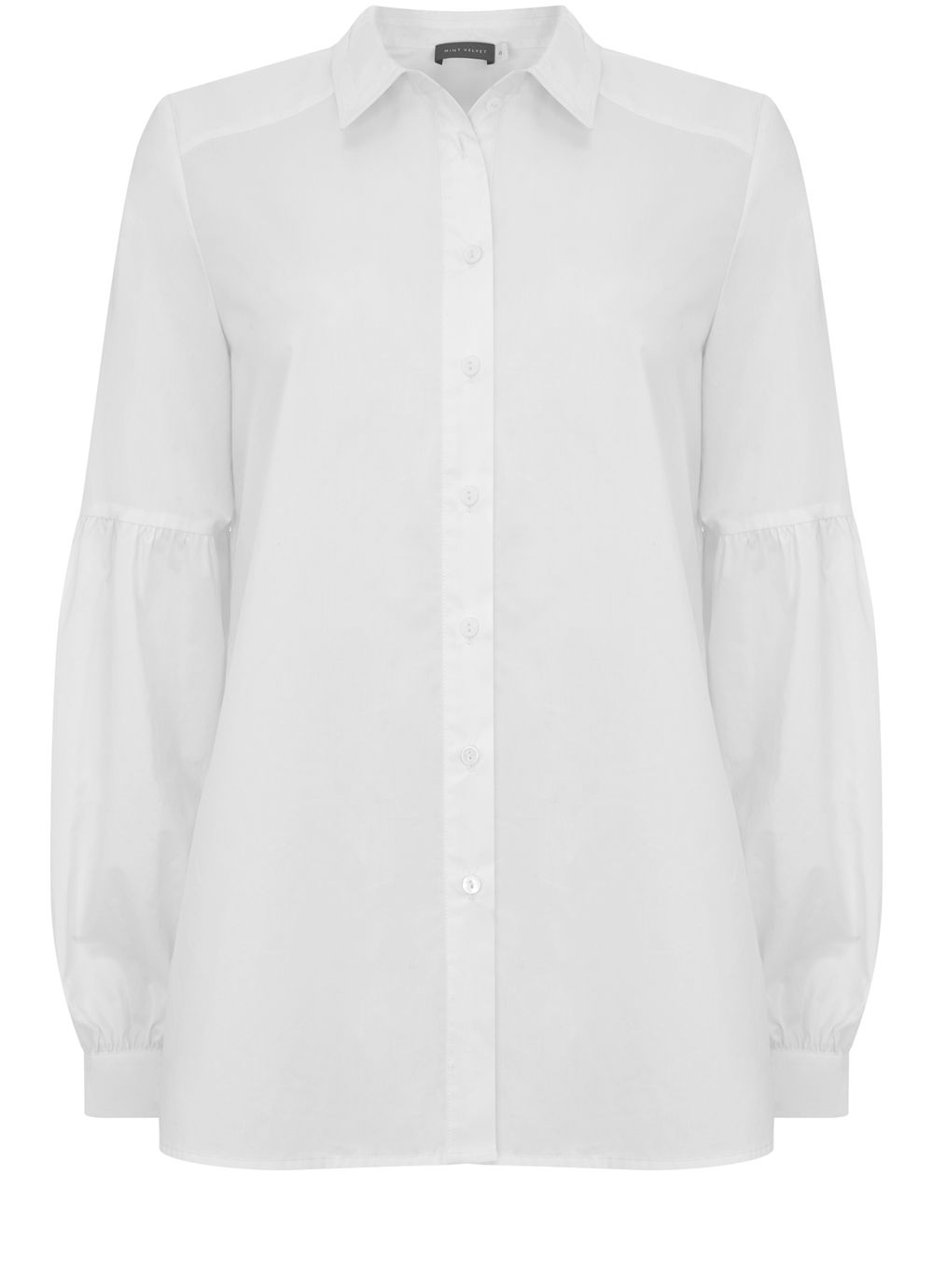 Mint Velvet Ivory Tie Back Cotton Shirt, White