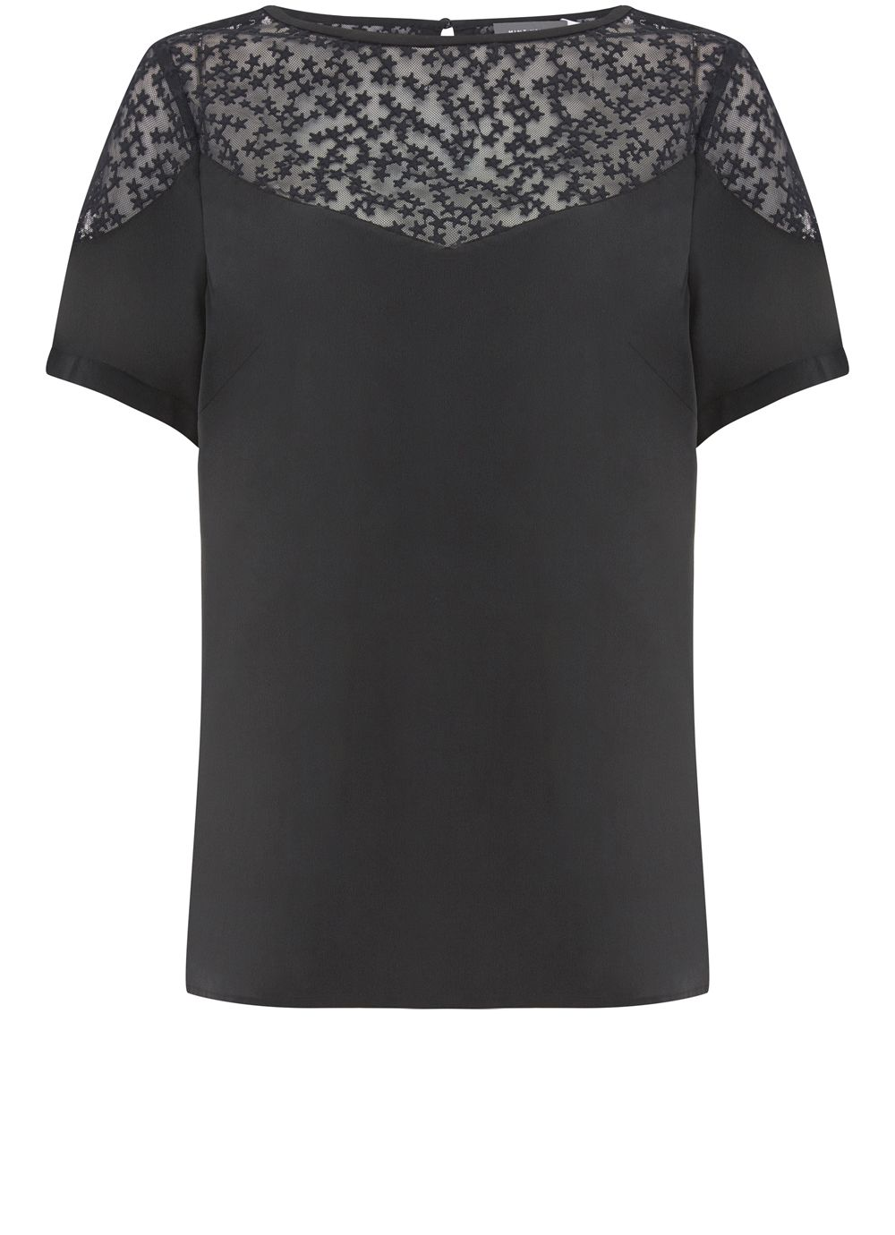 Mint Velvet Ink Star Embroidered Tee, Dark Blue