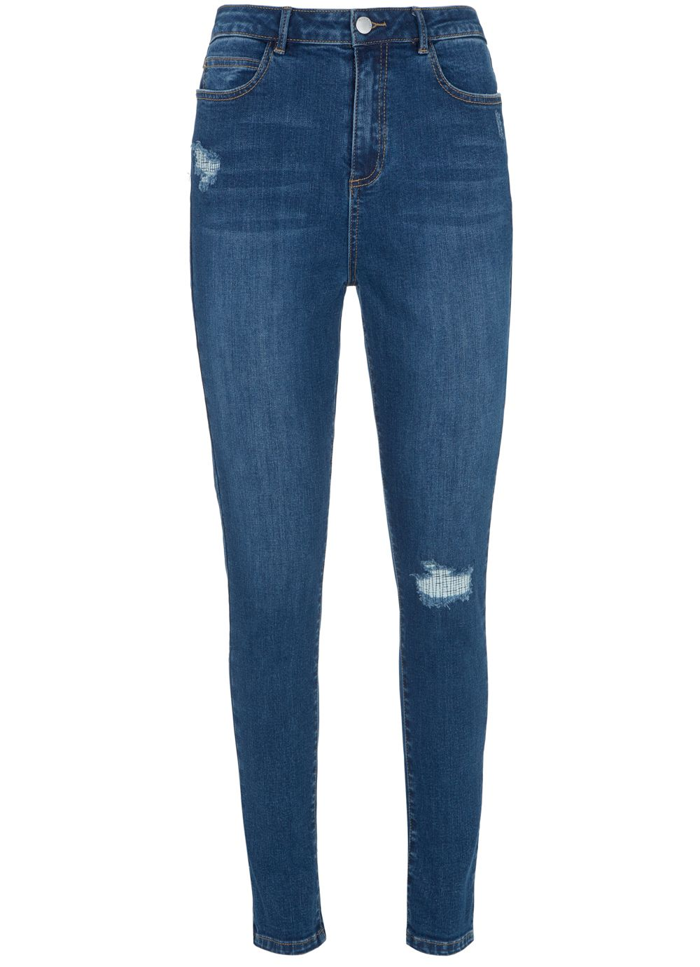 Mint Velvet Joliet Indigo Distressed Jean, Blue