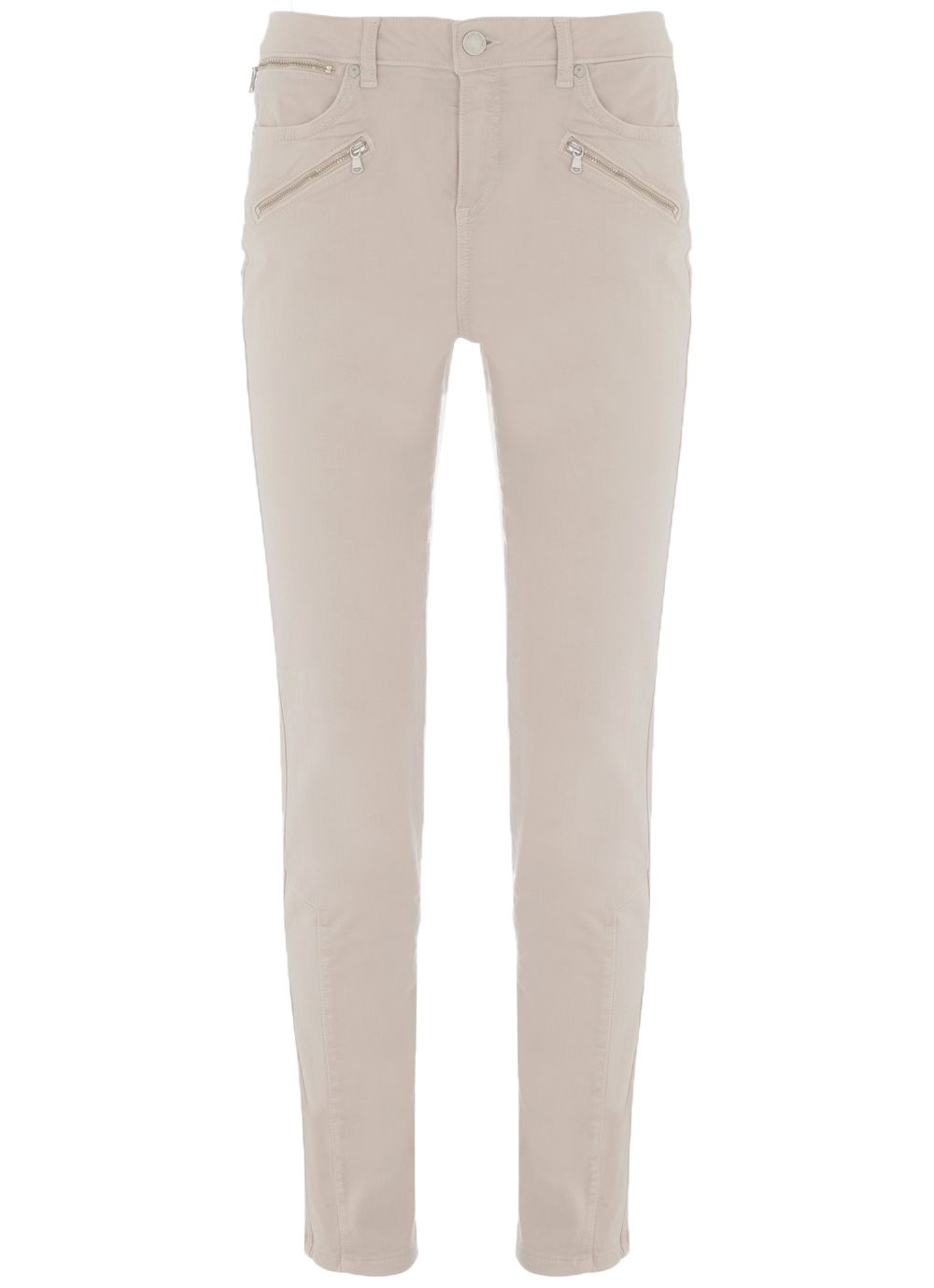 Mint Velvet Darby Clay Zip Skinny Jean, Neutral