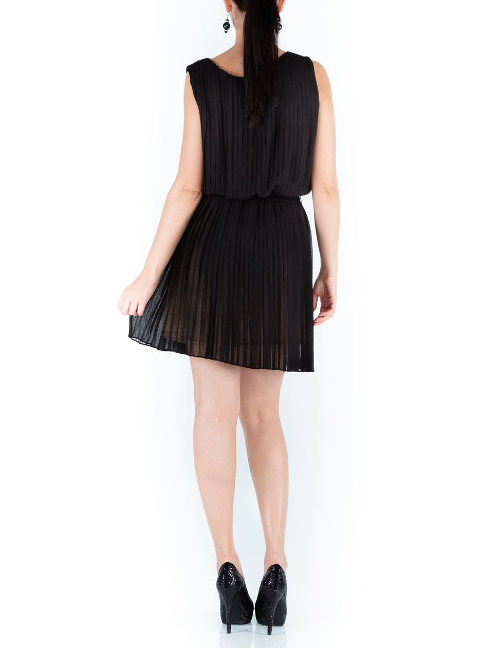Tatiana pleated shift dress