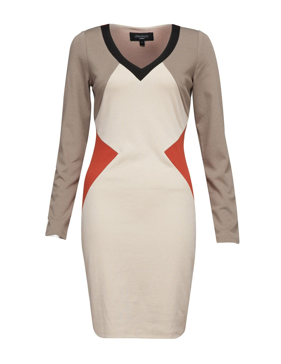 Titana colour block bodycon dress