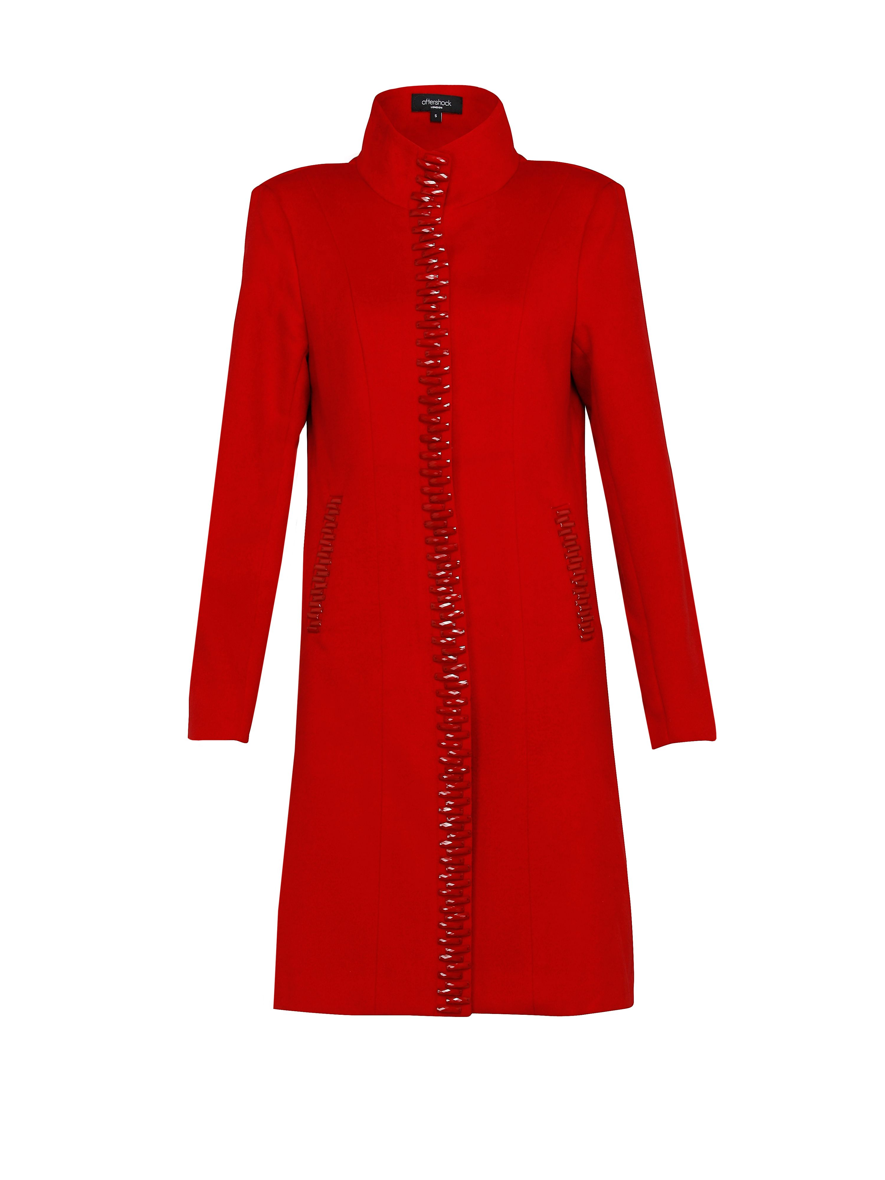 Halzey cerise long coat