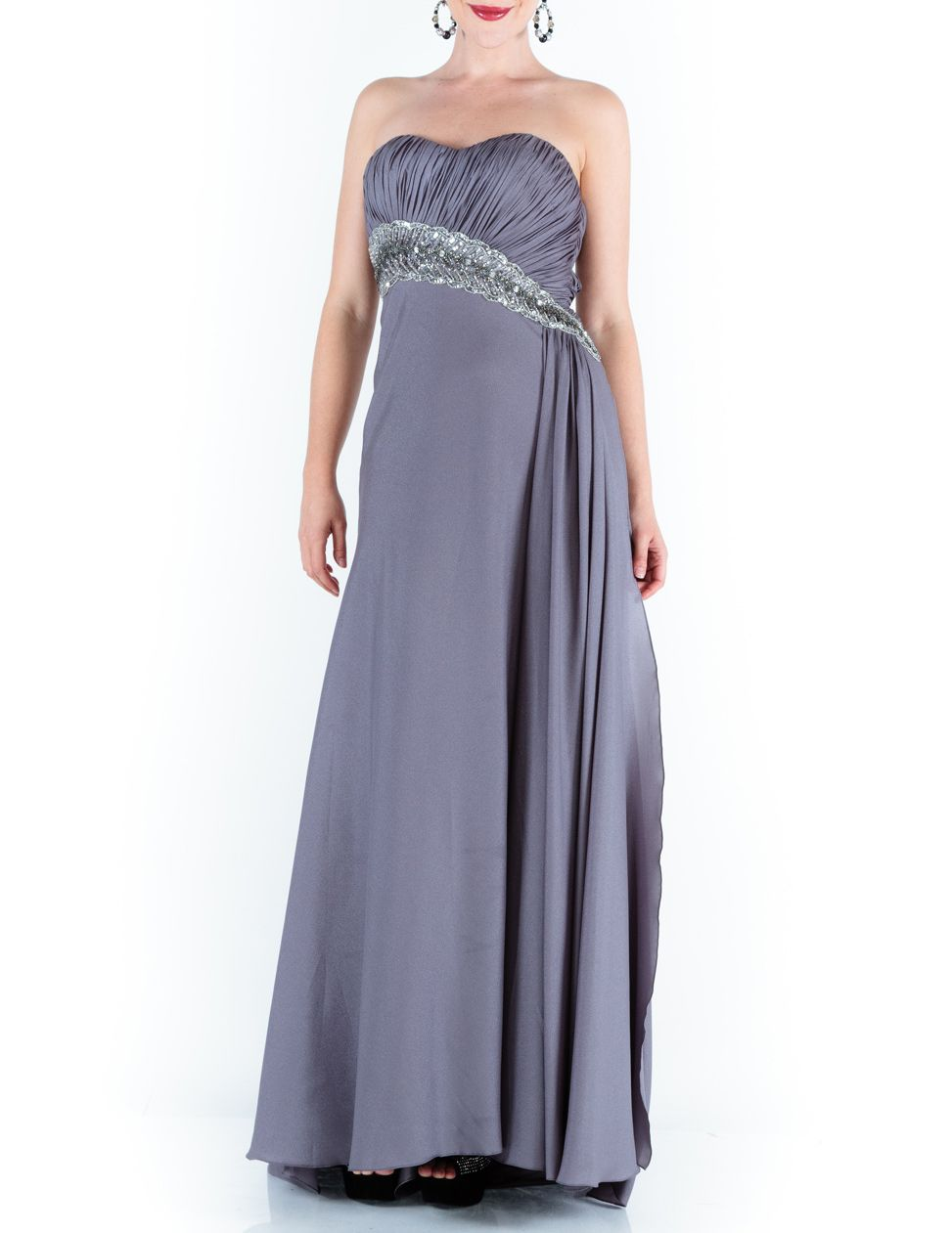 Tristica strapless sweeping maxi dress