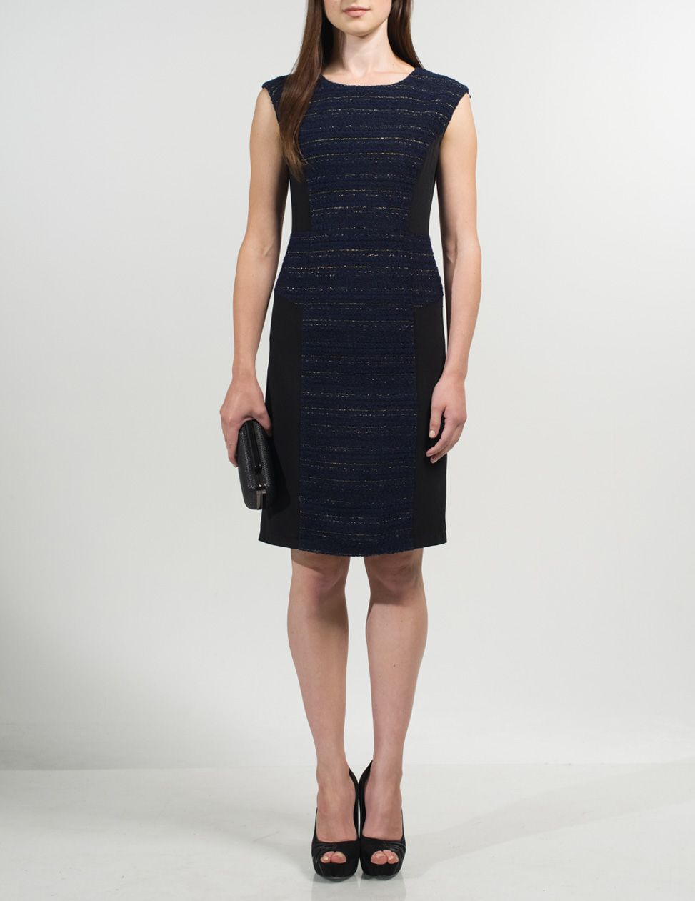 Dolya black and navy short dress